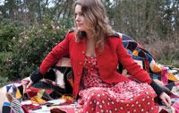 Kate Rowe - Red Coat on quilt